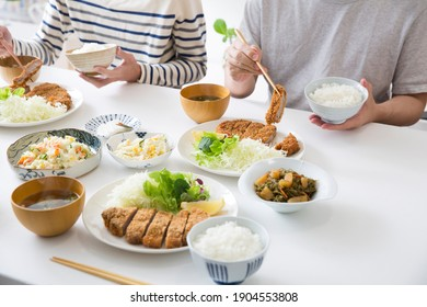 Japanese, dining table, daily dining scene
