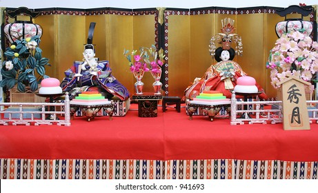 japanese dolls used for a festival for girls