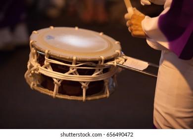 Japanese Drum during a summer festival (matsuri) in Kagurazaka, Tokyo.