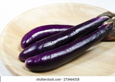 Japanese eggplant on a plate