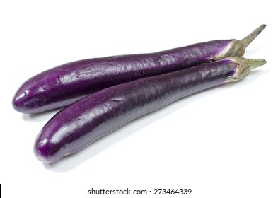 Japanese eggplant on white background