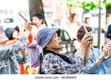 Japanese elderly women