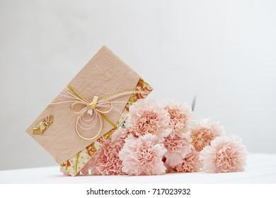 Japanese envelope for celebration event with carnation