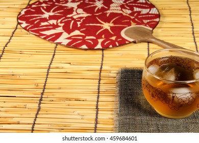Japanese fan and barley tea