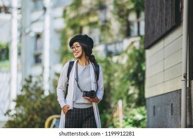 Japanese female lifestyle while traveling