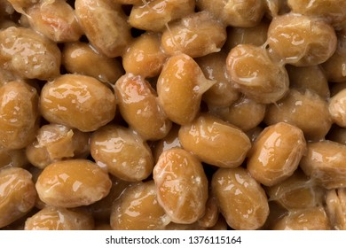 Japanese fermented soybeans called natto full frame, close up