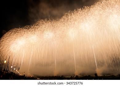 Japanese fireworks in Summer Festival, Nagaoka city,Niigata pref