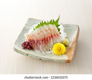 Japanese flounder (Hirame)  sashimi