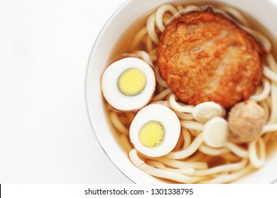 Japanese food, boiled egg Oden and udon noodles