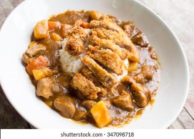 japanese food fry pork curry