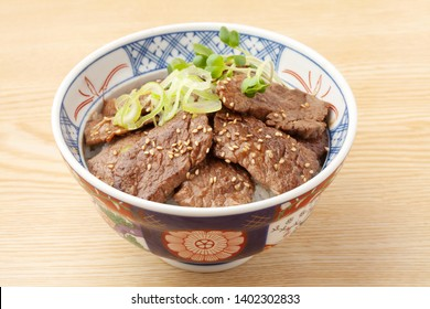 Japanese food of grilled meat bowl