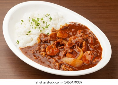 Japanese food hashed beef and rice