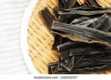 Japanese food ingredient, Kombu dried seaweed