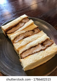 Japanese food - Katsu Sando,Pork Cutlet Sandwich.