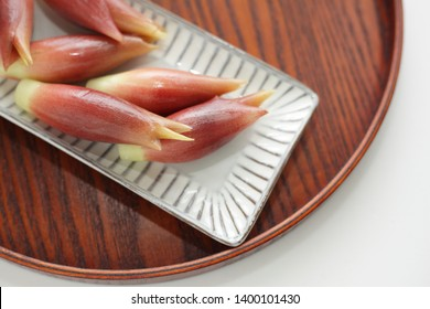 Japanese food, Myoga ginger on dish for ingredient image