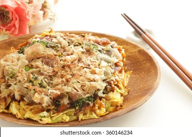 Japanese food, Okonomiyaki Pan cake
