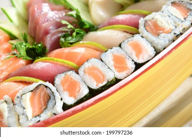 Japanese food on boat