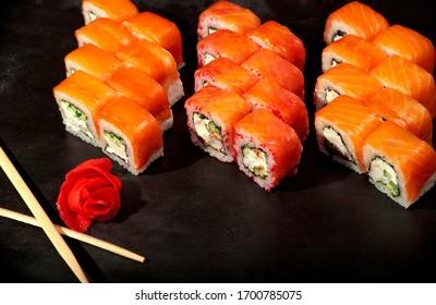 japanese food rolls philadelphia big set kombo