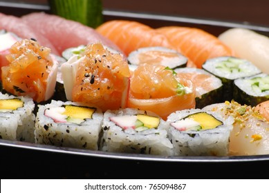 Japanese food, sashimi and sushi