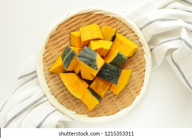 Japanese food, simmered pumpkin and soy sauce