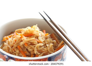 japanese food, simmered radish and carrot for healthy washoku image