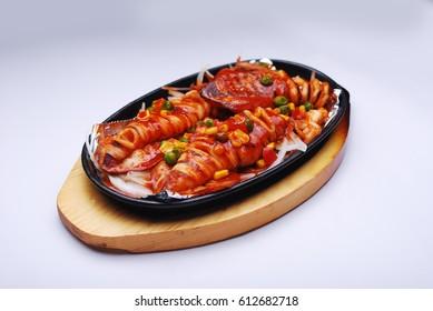 Japanese food - Sizzling calamari