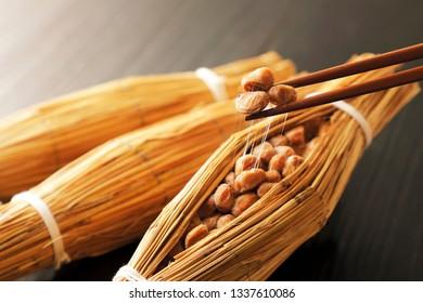Japanese food Straw natto