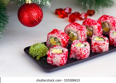 Japanese food: sushi and rolls