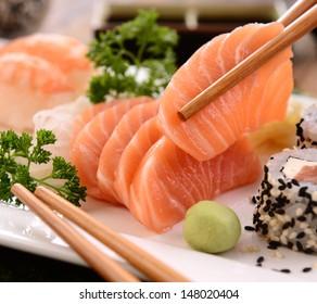 Japanese food Sushi and Sashimi