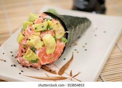 Japanese Food Temaki Avocado