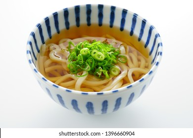 Japanese food. Udon noodle soup.