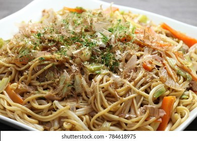 Japanese food yakisoba/Stir-fried noodles with vegetables and meat