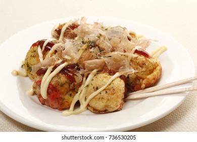 Japanese foods TAKOYAKI