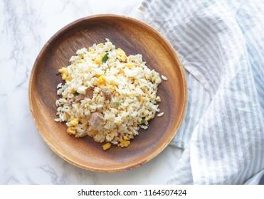 Japanese frozen food, roasted pork fried rice
