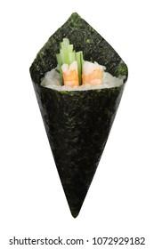 Japanese fusion cuisine California hand roll sushi