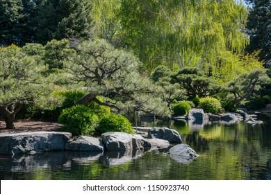 Japanese garden in the Botanic Garden at Denver, Colorado