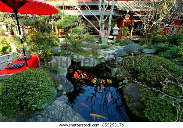 Japanese Garden Design Like Small Landscape Stock Photo Edit Now
