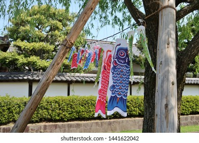 Japanese garden and fish decoration