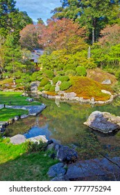 A Japanese Garden in Kyoto in late spring