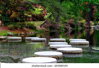Japanese garden at Maymount park. Richmond Virginia.