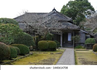 Japanese garden in Miyazaki , Japan