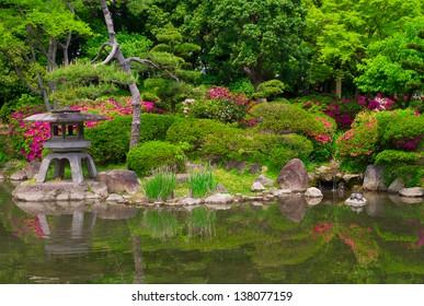 Japanese garden in Osaka