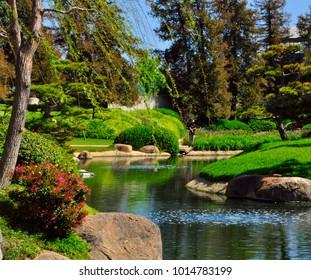 Japanese garden in southern california, USA