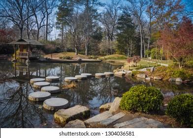Japanese Garden Stepping Stones - Maymont Gardens