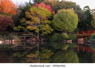 Japanese gardens in carnival of flowers town Toowoomba darling downs autumn colour