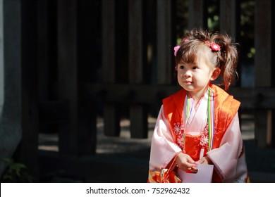 Japanese girl on festival (3 years old)
