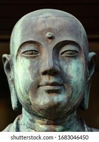Japanese Gods statues in Higashi-Honganji Temple in Kyoto, Japan