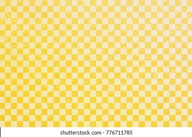 Japanese gold white checkered pattern paper texture background