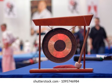 japanese gong on a karate competition