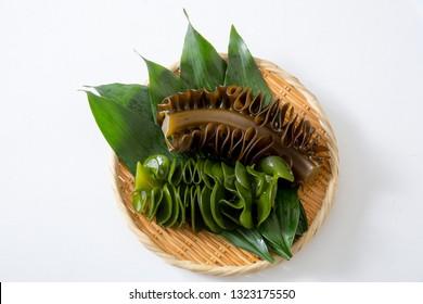 Japanese health food, seaweed wakame